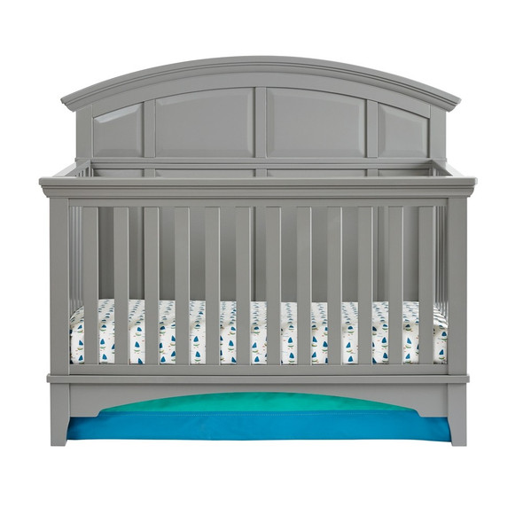 Kolcraft Brooklyn Convertible Crib in Nursery Gray