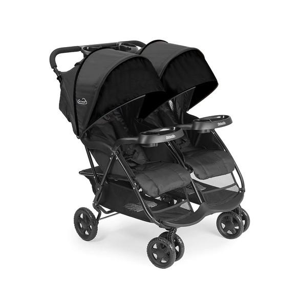 Kolcraft Cloud Plus Double Stroller in Black