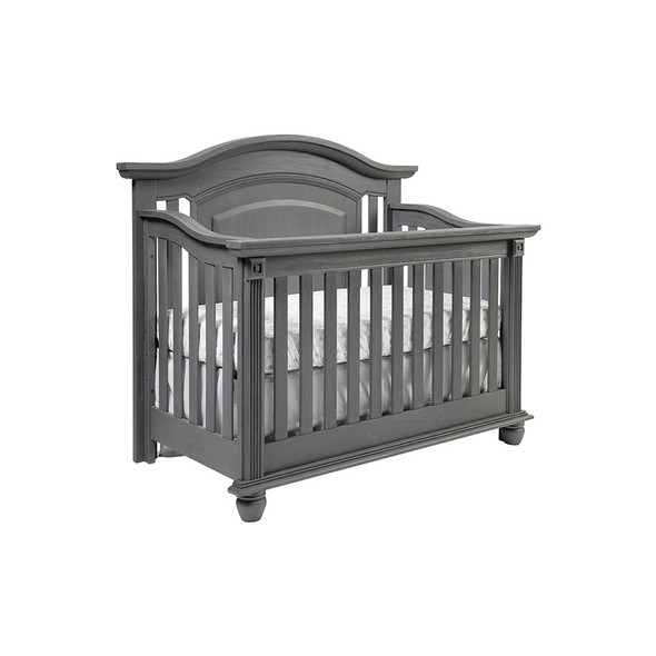 Oxford Baby London Lane 4 in 1 Convertible Crib in Arctic Gray