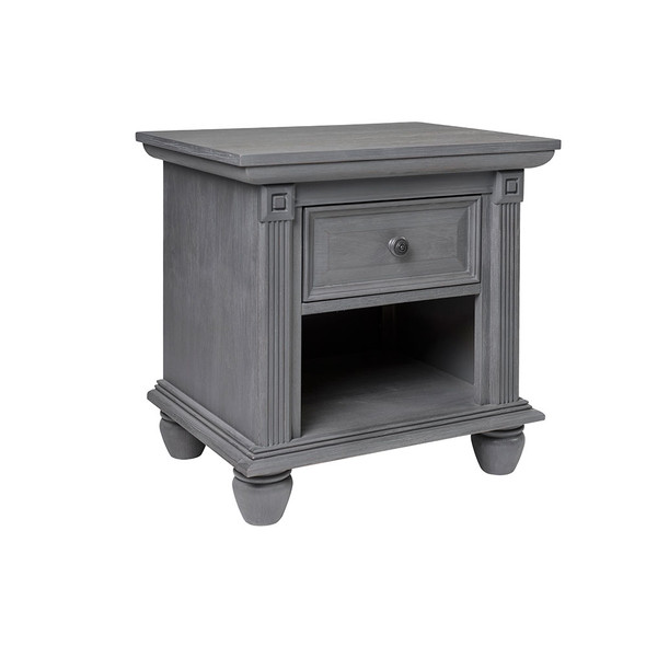 Oxford Baby London Lane Nightstand in Arctic Gray