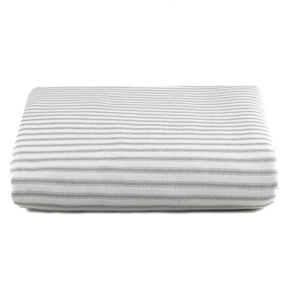 Liz and Roo Gray Classic Stripe Crib Sheet Ticking Stripe