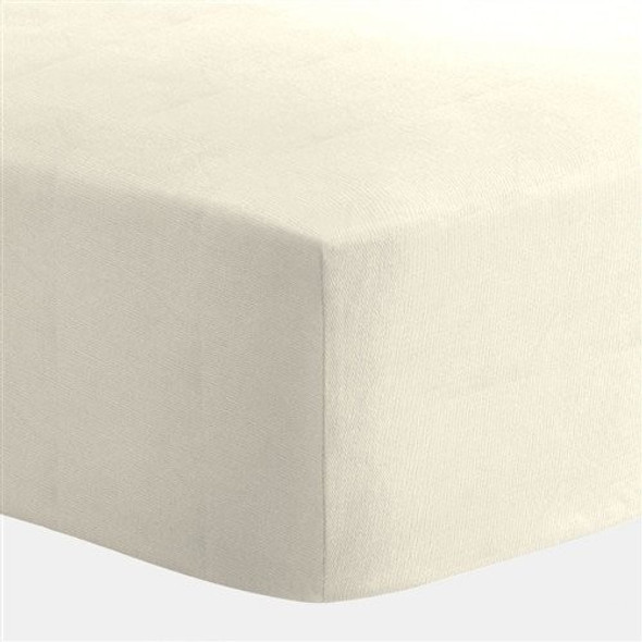Liz and Roo Ivory Cotton Crib Sheet-1
