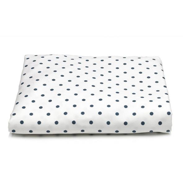 Liz and Roo Navy Mini Dots Crib Sheet
