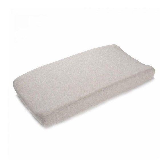 Liz and Roo Flax Blend Contoured Changing Pad Cover in Linen