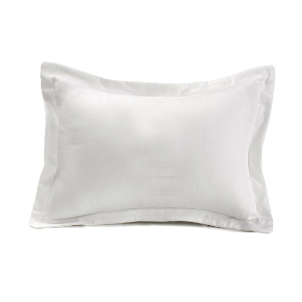Liz and Roo White Woven Solid Baby Pillow Sham