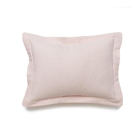 Liz and Roo Petal Pink Linen Baby Pillow Sham