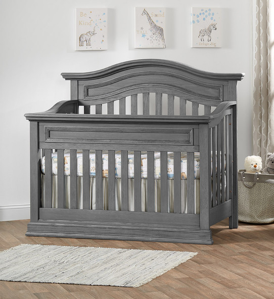 Oxford Baby Glenbrook Collection Convertible Crib in Graphite Gray