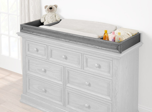 Oxford Baby Glenbrook Collection Changer Topper in Graphite Gray