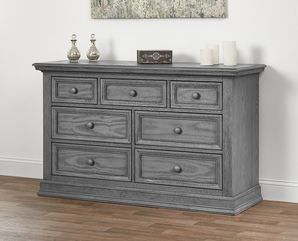 Oxford Baby Glenbrook Collection 7 Drawer Dresser in Graphite Gray