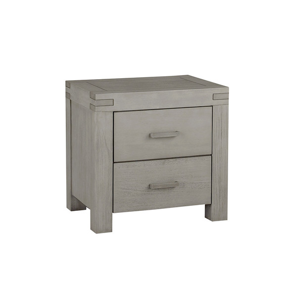 Oxford Baby Piermont Collection Nightstand in Rustic Stonington Gray