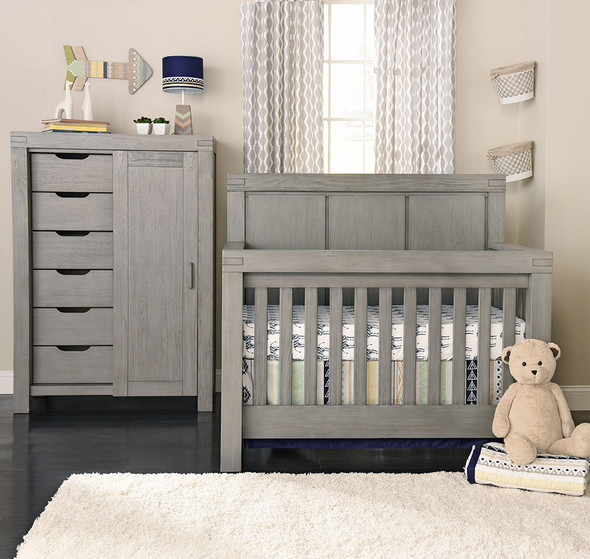 Oxford Baby Piermont Collection Chifferobe in Rustic Stonington Gray