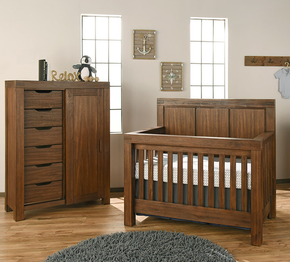 Oxford Baby Piermont Collection Chifferobe in Rustic Farmhouse Brown