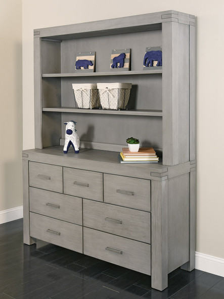 Oxford Baby Piermont Collection Hutch in Rustic Stonington Gray