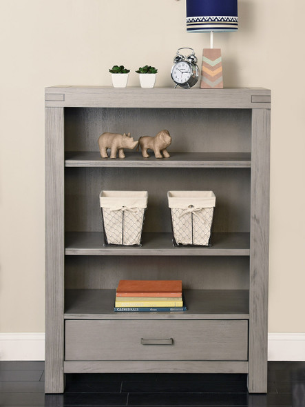 Oxford Baby Piermont Collection Bookcase in Rustic Stonington Gray
