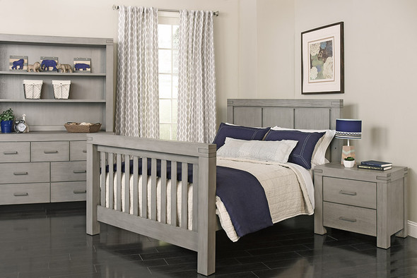 Oxford Baby Piermont Collection Full Bed Conversion Kit in Rustic Stonington Gray - Factory 10 Production Only