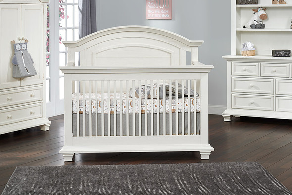 Oxford Baby Cottage Cove Collection Convertible Crib in Vintage White