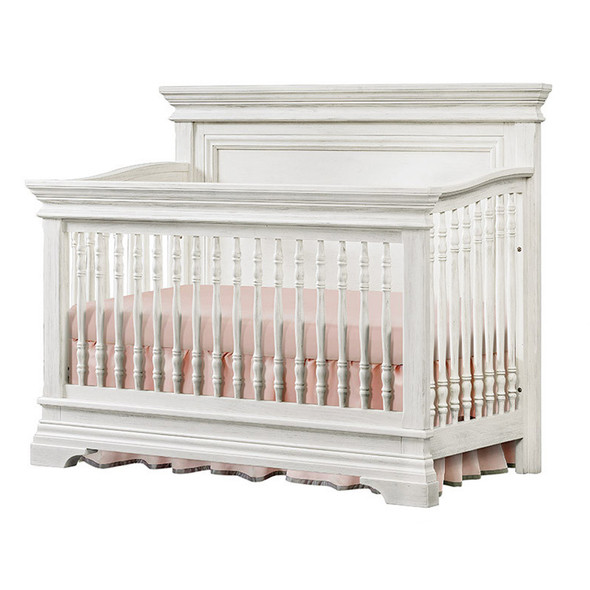 Westwood Olivia 2 Piece Nursery Set - Crib and 5 Drawer Chest in Brushed White