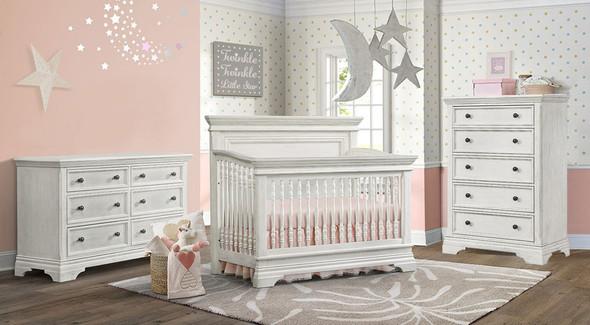 Westwood Olivia 3 Piece Nursery Set in Brushed White