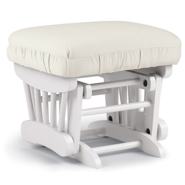 Best Chairs Geneva White Wood Ottoman - Snow