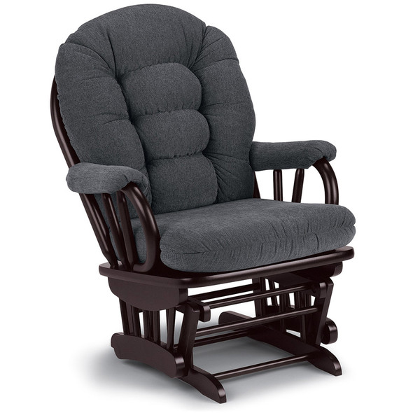 Best Chairs Geneva Espresso Wood Glider - Graphite