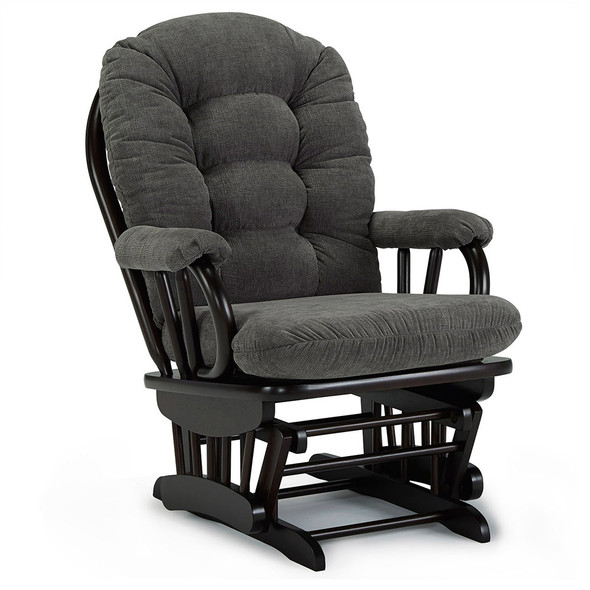 Best Chairs Geneva Espresso Wood Glider - Mocha