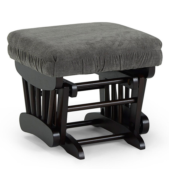 Best Chairs Geneva Espresso Wood Ottoman - Mocha
