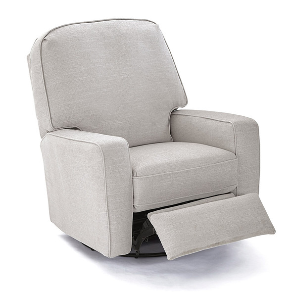 Best Chairs Bilana Swivel Glide Recliner - Dove