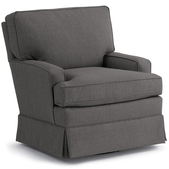 Best Chairs Charlotte Swivel Glider - Granite