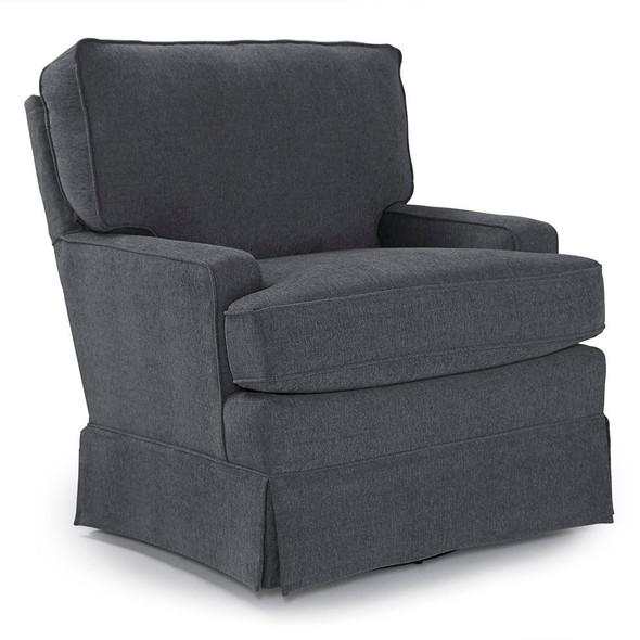 Best Chairs Charlotte Swivel Glider - Graphite