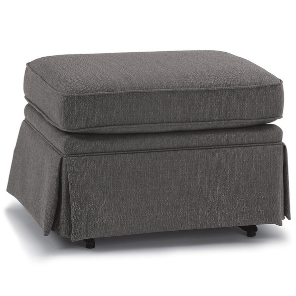 Best Chairs Charlotte Glide Ottoman - Granite