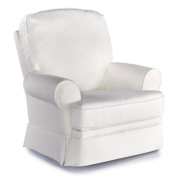 Best Chairs Dakota Swivel Glide Recliner - Snow