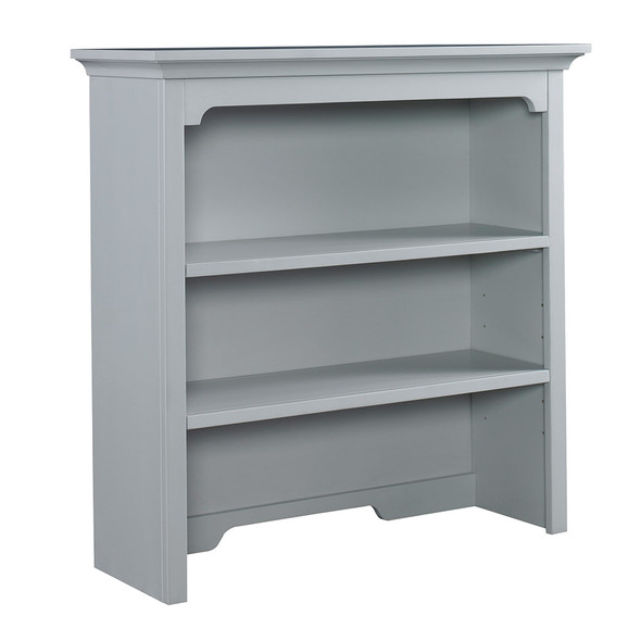 Ti Amo Palazzo Bookcase Hutch in Misty Grey