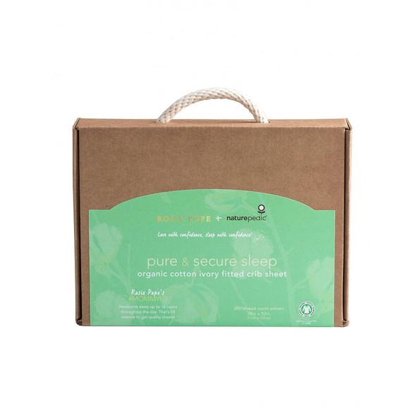 Naturepedic Rosie Pope Organic Cotton Ivory Crib Sheet - Fitted (28x52x6)