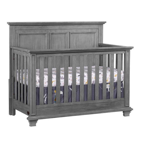 Oxford Baby Kenilworth Collection 4 in 1 Convertible Crib in Graphite Gray