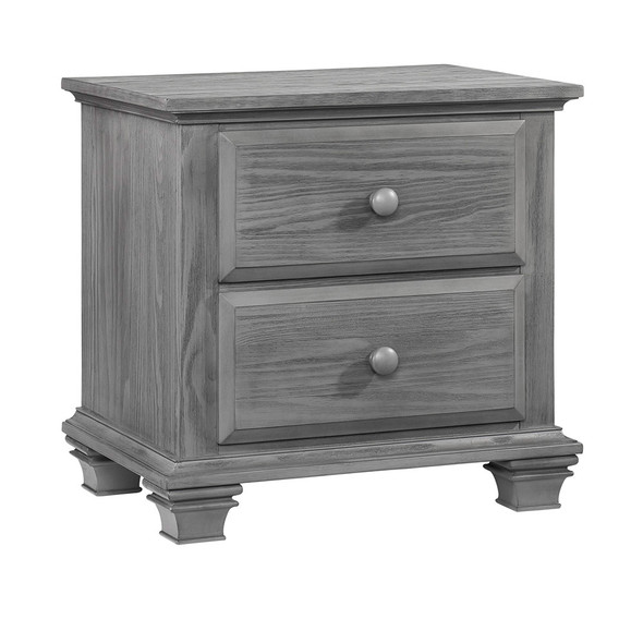 Oxford Baby Kenilworth Collection 2 Drawer Nightstand in Graphite Gray
