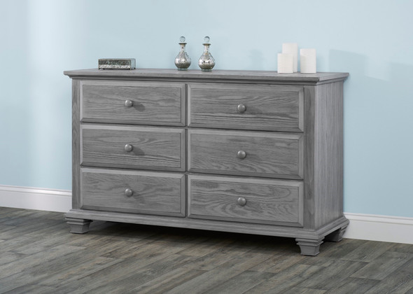 Oxford Baby Kenilworth Collection 6 Drawer Dresser in Graphite Gray
