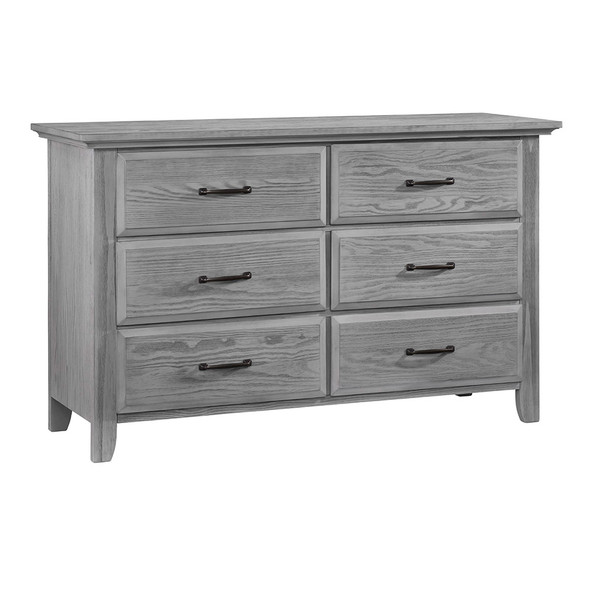 Oxford Baby Kenilworth Collection Universal 6 Drawer RTA Dresser in Graphite Gray