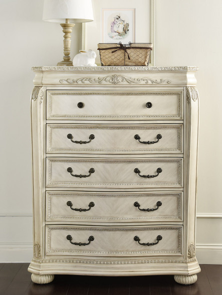 Kingsley by Heritage Wessex 5 Drawer Chest in Seashell