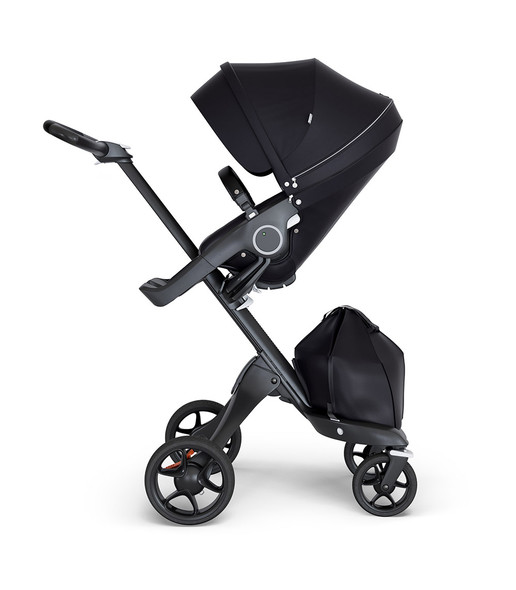 Stokke Xplory Black Chassis & Stroller Seat in Black and Black Handle