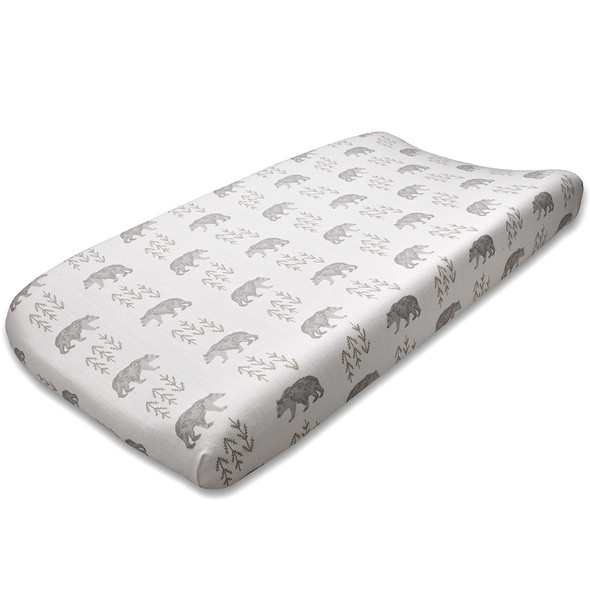 Liz and Roo Cubby (Taupe) Contoured Changing Pad Cover