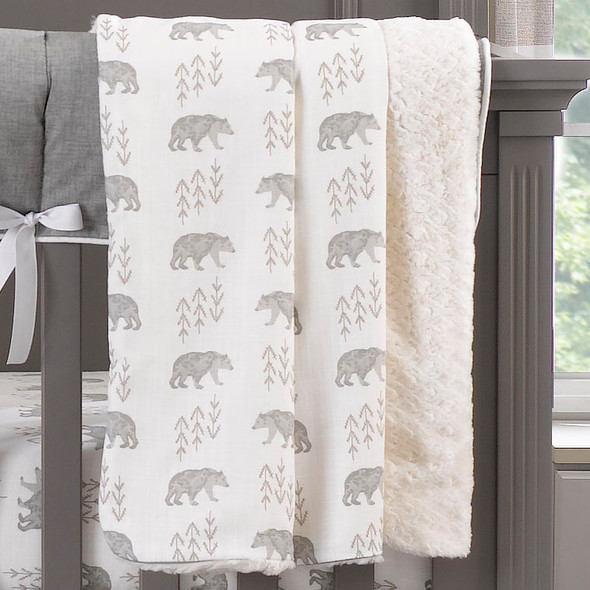 Liz and Roo Cubby (Gray) Bumperless Crib Bedding 3-Piece set