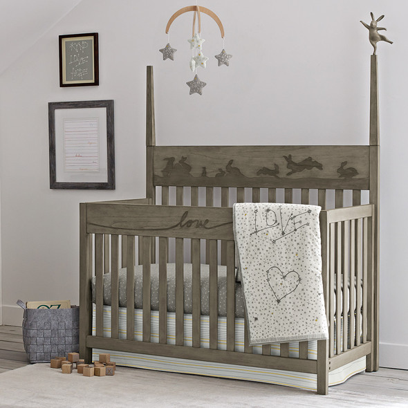 ED Ellen DeGeneres Forest Animals Collection Convertible Crib in Natural Grey
