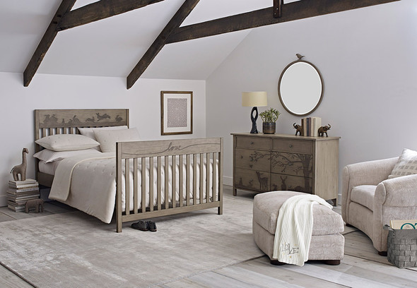 ED Ellen DeGeneres Forest Animals Collection Bed Rail in Natural Grey