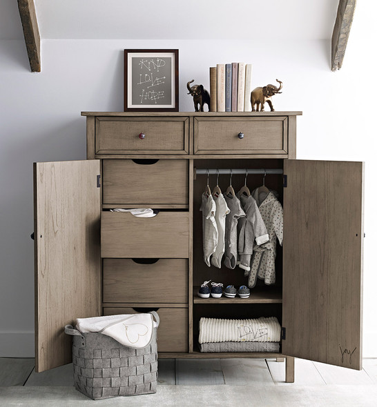 ED Ellen DeGeneres Forest Animals Collection Chifforobe in Natural Grey
