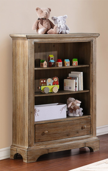Bertini Pembrooke Bookcase in Natural Rustic