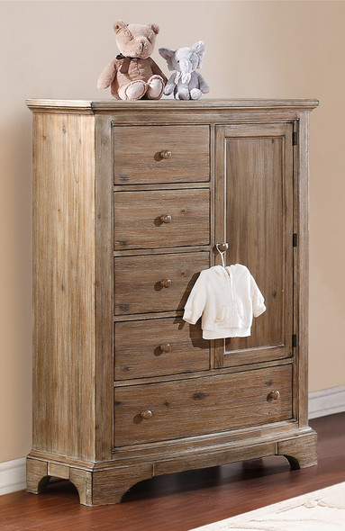 Bertini Pembrooke Chifforobe in Natural Rustic
