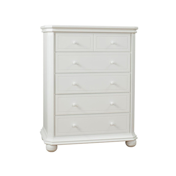 Sorelle Vista Elite Collection Five Drawer Dresser in White