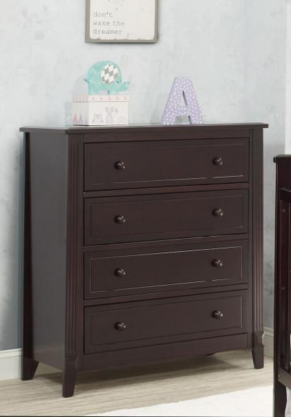 Sorelle Berkley 4 Drawer Dresser (Rta) in Espresso