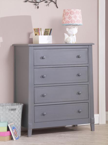 Sorelle Berkley 4 Drawer Dresser (Rta) in Gray