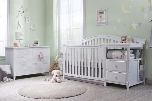 Sorelle Berkley 4 In 1 Crib N Changer in White